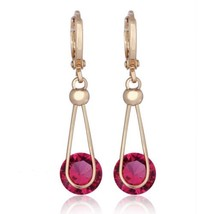 Lifelong Love AAA Zircon Earrings    gold plated red zircon - $10.39