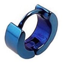 Girl Boy Earrings Puncture   4mm blue single - $8.59