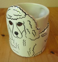 Dogs By Nina Lyman Poodle Mug Ceramic 3D Coffee Cup Retired Collectible - $24.95