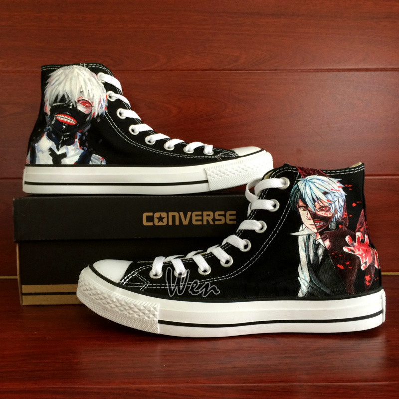 Converse All Star Design Anime Hand Painted Shoes Men Women Sneaker Tokyo Ghouls