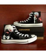 Converse All Star Design Anime Hand Painted Shoes Men Women Sneaker Toky... - $145.00