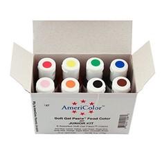 AmeriColor Soft Gel Paste Food Color Junior Kit8 assorted colors075 oz JKIT - $25.63