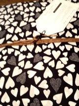Pottery Barn Dorm Happy Hearts Twin Duvet Cover Black & White  NIP - $59.38