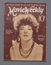 MOVIE WEEKLY Jul 12.1924. THIEF OF BAGHDAD - VALENTINO - BEBE D - RARE H... - $363.75