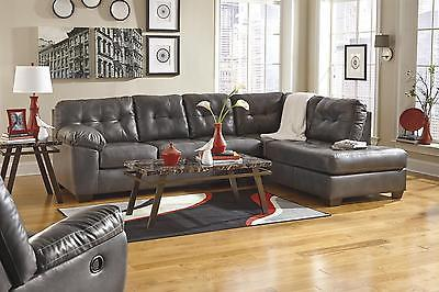 Ashley Alliston DuraBlend Sectional 2pc. Gray Signature Design Right Chaise