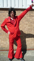 "70's Disco Devil - Red PIMP Suit 44"" chest - $63.12"