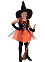 Kids Deluxe  Black / Orange Witch   - ages 3 to 14   - $32.27