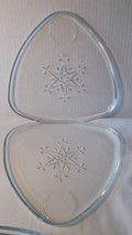 Vtg 8 Piece Triangle Snowflake Indiana Glass Sn... - $22.76