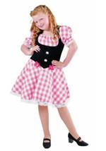 GIRLS  - Heidi , Austrian , Oktoberfest - ages 3 to 14  Pink Check - $28.16+