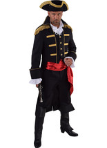 "Admiral Jacket - Black / Gold - Pirate/ Period / New Romantic   - 38-50"" chest - $68.85"
