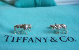 TIFFANY & CO. STERLING BULL & BEAR CUFF LINKS! - $275.00