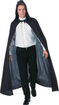 "58 ""Long Black Hooded Cloak /Cape - fits up to 44""chest - $15.71"