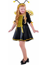 Kids - Girls Bumble Bee Dress / wings / antenna - ages 3 to 14 - $38.52