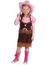 Girls  -  Brown / Pink Cowgirl  Costume   - ages 3 to 14   - $32.28