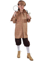 Kids Deluxe Sherlock Holmes Costume  - ages 3 to 14 - $39.73