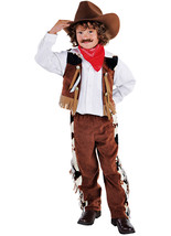 Boys  -  Brown / Cow print  Cowboy  Costume   - ages 3 to 14   - $31.81