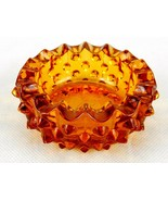 "Vintage Ashtray Colonial Amber Fenton Hobnail Small Ashtray 3.5"" Ashtray - $14.65"