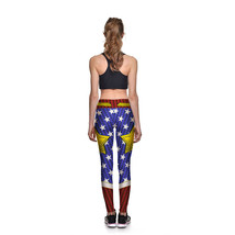 Wonder Woman Logo Digital Athletic Leggings Cartoon Printed Wonderwomen ... - $23.99