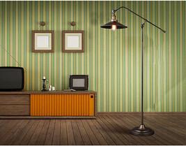 Vintage Fishing Floor Lamp Gunmetal E27 Light Adjustable Home Lighting Fixture - $217.52