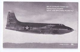 Mutoscope Jet Bell X-1A High Speed Rocket Research Aircraft Airplane Pos... - $4.99
