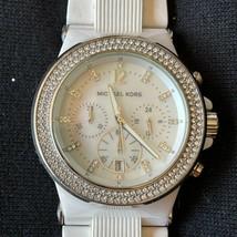 Michael Kors Bel Aire Womens Watch Chronograph Date Rhinestones Silver MK-5392 - $112.19