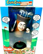 Caddy Cracks Golf Themed Animated Talking Bank by Mag-Nif Needs Batteries - $19.33