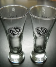 Beer Bourbon and BBQ Festival 2013 Shot Glass Clear Flared Glass Black P... - €12,87 EUR