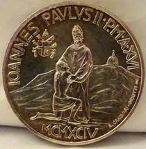 POPE JOHN PAUL II GOOD SAMARITAN 1000 LIRE 1994 VATICAN SILVER COIN Unci... - $73.49