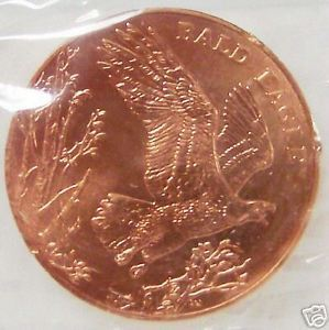 US MINT 2003 BALD EAGLE NATIONAL WILDLIFE BRONZE MEDAL Uncirculated