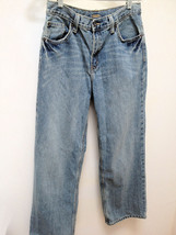 "Old Navy 16 Blue Jeans Loose Fit Denim Inseam 26"" Pants Back to School - $9.77"