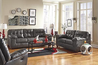 Ashley Alliston DuraBlend Living Room Set 3pc.Gray Contemporary Signature Design