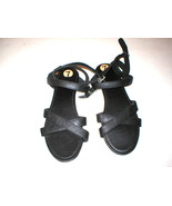 New Womens Hollister Small S 7 8 Sandals Wrap Black White Girls Cross St... - $15.40