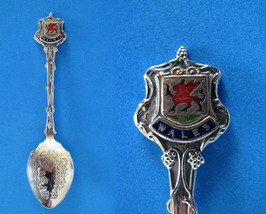 Wales Souvenir Collector Spoon Collectible Welsh Red Dragon Emblem Vintage - $5.95