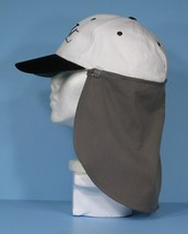 2 Removable Hat Neck / Ear Flaps Sun Protection Shade Olive Green and Black NEW - $13.99