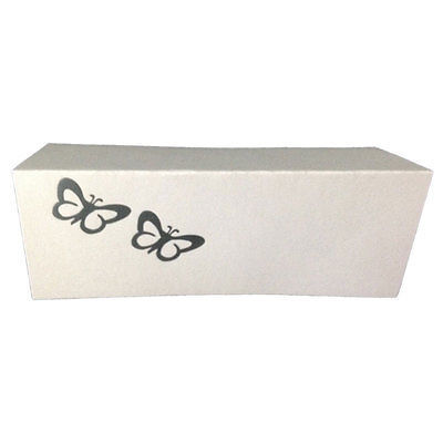 50 Silver Butterflies Tent Style White place cards 10.8cm x 1.75 folded