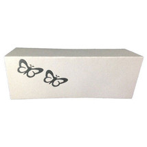 50 Silver Butterflies Tent Style White place cards 10.8cm x 1.75 folded - $10.79