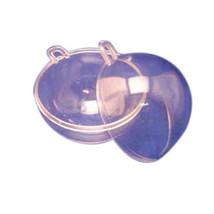 2 Clear Plastic Ball fillable Ornament favor 10.2cm 100mm - $3.57