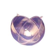 2 Clear Plastic Ball fillable Ornament favor 11.4cm 120mm - $4.61