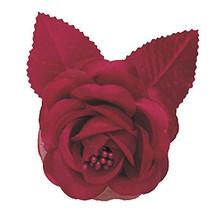 12 silk roses wedding favor flower corsage burgundy 7cm - $8.46