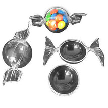12 Clear Plastic ball fillable Ornament favor wrapped candy look 3.8cm ball - $9.70