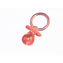 12 Extra Large Plastic Baby Shower Pacifiers 6.3cm Long - Pink - $5.43