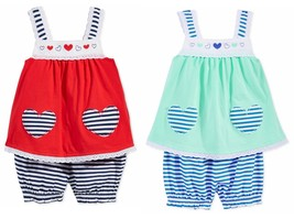 First Impressions Baby Girls 2-Piece Heart Tunic & Stripe Bloomer Set - $13.50