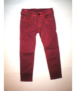 New Girls NWT True Religion Brand Jeans 6 Casey Red Skinny Metallic Flam... - $156.00
