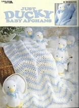 4 Baby Afghan Pattern Bookets-Just Ducky-Love Me Tender-Precious-Receivi... - $9.46