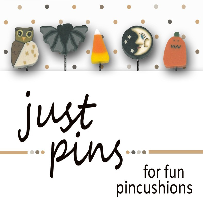 Halloween Just Pins JP103 set 5 for pincushions JABC Just Another Button Co