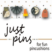 Halloween Just Pins JP103 set 5 for pincushions JABC Just Another Button Co - $13.95