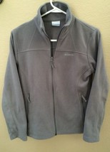 Ladies Columbia Fleece Full Zip Hiking Jacket Gray Size S - Fast Ship! - $19.78