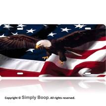 American Flag Bald Eagle  Patriotic Aluminum Li... - $14.84