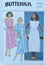 Butterick 3232 1980s Sewing Pattern Pullover Dress Womens XS S M Pleated Nautica - $7.00