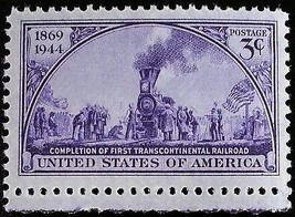 1944 3c First Transcontinental Railroad, 75th Anniversary Scott 922 Mint... - $0.99
